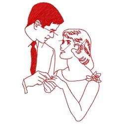Wedding Couple embroidery design