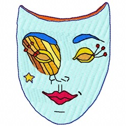 Star Mask embroidery design