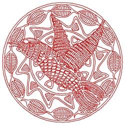 Hidden Bird embroidery design
