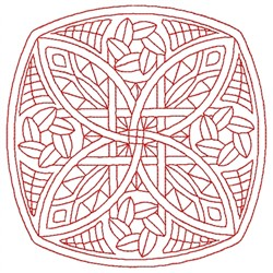 Square Swirl embroidery design