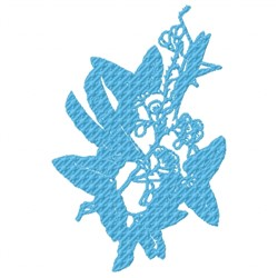Flower Stamp embroidery design