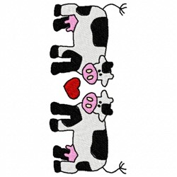 Love Cows embroidery design