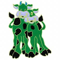 Happy Cows embroidery design