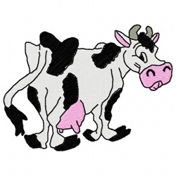 Funny Cow embroidery design