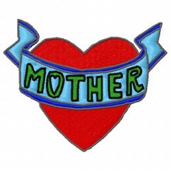 Mother Heart embroidery design