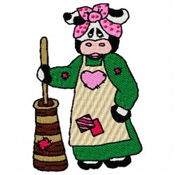 Cow Churn embroidery design