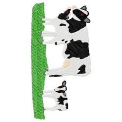 Cow Calf embroidery design
