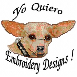 Yo Dog embroidery design
