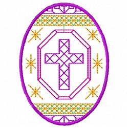 Cross Egg embroidery design