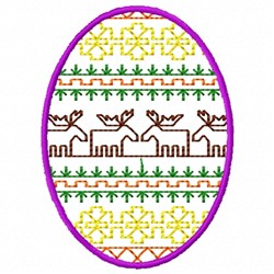 Moose Egg embroidery design