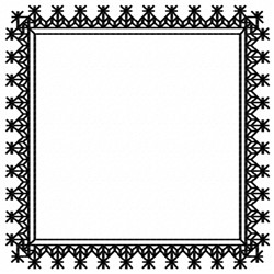 Blackwork Frame embroidery design