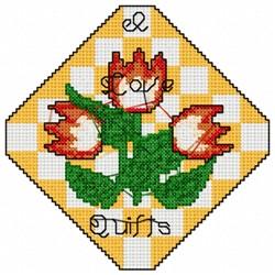 Tulip Quilt Block embroidery design