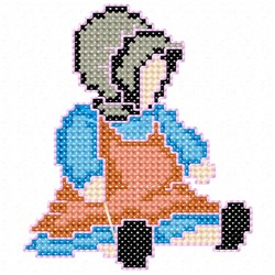 Amish Doll embroidery design