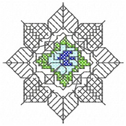 Flower Doily embroidery design