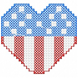 Patriotic Heart embroidery design