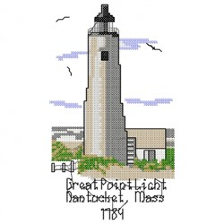 Great Point Light embroidery design