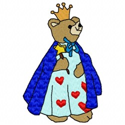 Queen Bear embroidery design