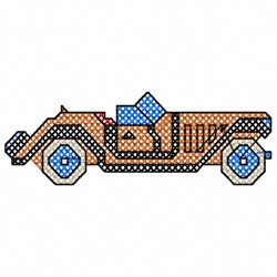Sporty Car embroidery design