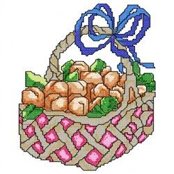 Apricot Basket embroidery design
