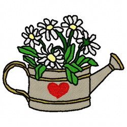 Flower Can embroidery design