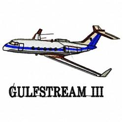 Gulfstream III embroidery design