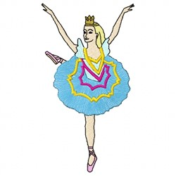 Ballerina embroidery design