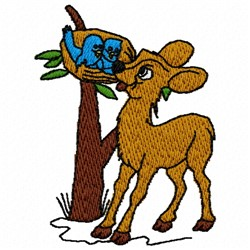 Deer Tree embroidery design