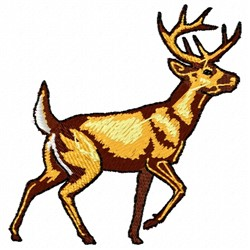 Prancing Buck embroidery design