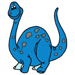 Dinosaur Brontosaurus embroidery design