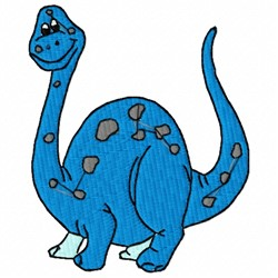 Brontosaurus embroidery design