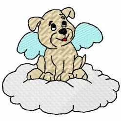 Angel Puppy embroidery design