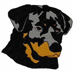 Pitbull embroidery design