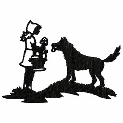 Dog And Girl embroidery design
