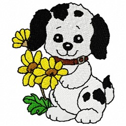 Pup & Mum embroidery design