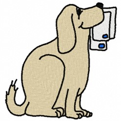 Dog Mail embroidery design