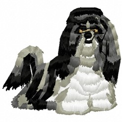 Maltese Dog embroidery design