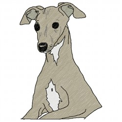Italian Greyhound embroidery design