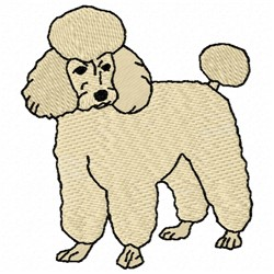 Poodle Dog embroidery design