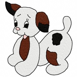 Puppy Wag embroidery design