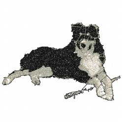 Collie Dog embroidery design