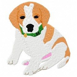 Pup Dog embroidery design