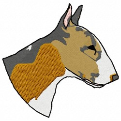 Bull Terrier Dog embroidery design