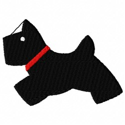 Scottie Dog embroidery design