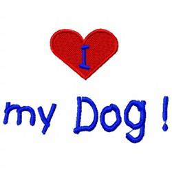 Love Dog embroidery design