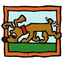 Sniffing Dog embroidery design