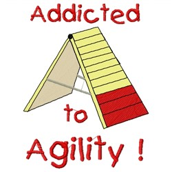Agility Dog embroidery design