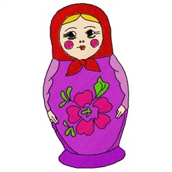 Nesting Doll embroidery design