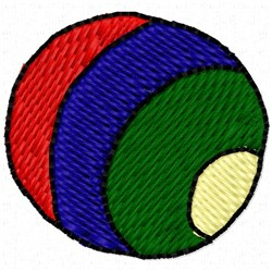 Colorful Ball embroidery design