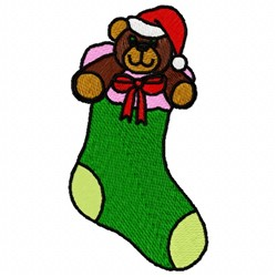 Bear Stocking embroidery design