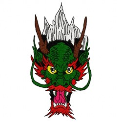 Dragon Head embroidery design